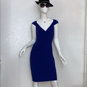 Adrianna Papell Royal Blue Body Con Sheath Dress 8